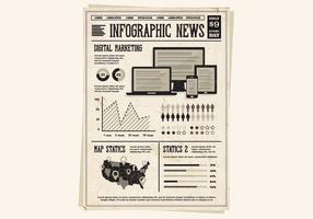 Zeitung Technologie Vektor