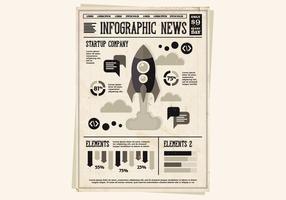 Zeitung Rocket Vektor