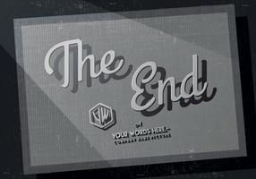 Das Ende Credits Vektor
