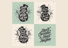 Snögubbar Jul Carol Vector