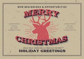Frohe Weihnachten Rentier Vektor