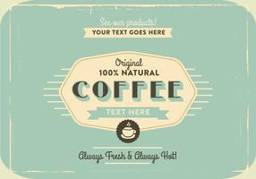 1960-talet kaffe logotyp vektor