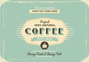 1960er Kaffee-Logo-Vektor