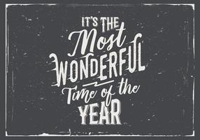 Det är årets underbara tid på tavlan vektorn vektor