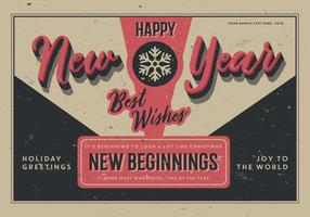 Åldrat nytt år vykort vektor