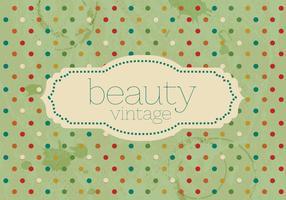 Weinlese-Polka-Punkt-Schönheits-Vektor