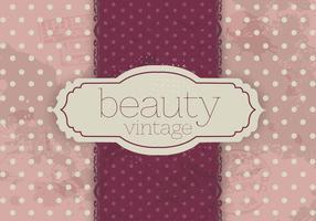 Polka Dot Vintage Schönheit Vektor