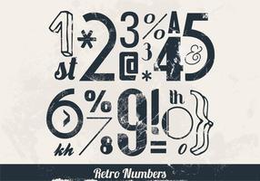 Zahlen und Symbole Vektor