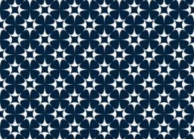 blaues und weißes Sternmuster