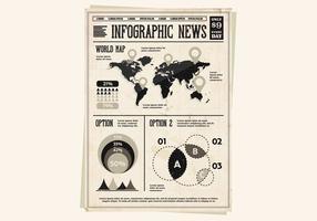 Weltkarte Pamphlet Vektor