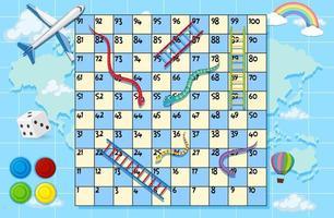 eine Karte Brettspiel Vorlage vektor