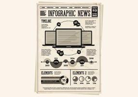 Bärbara datorer och Infographics Vector