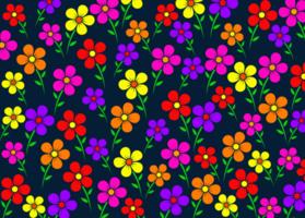 buntes Blumenmuster vektor