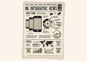 Smart Phone Pamphlet Vektor