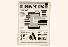 Infografische Tablette Vektor
