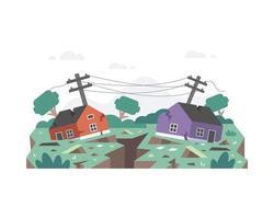 Erdbeben zerstört Häuser