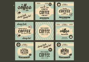 1960er Kaffee-Sammlung Vektor