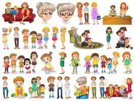 Satz von Familienmitgliedern Zeichen vektor