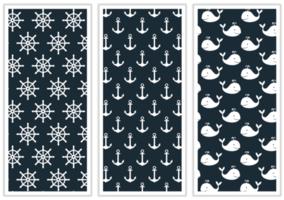 Marine Patternfabric Design vektor