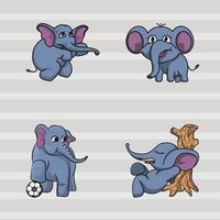 elefant maskot samling vektor