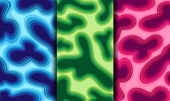 Fluss von Papierschnittfarben vektor
