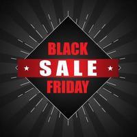 svart fredag försäljning affisch med starbust