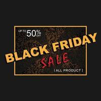 svart fredag försäljning banner med gnistrar