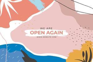 färgglada former vi är öppna webbplats banner