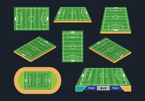 Fotbollsplan ikoner vektor