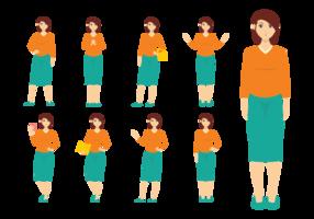 Mujer Vektoren