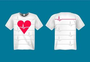 Kostenlose Herzfrequenz Vektor-Illustration vektor