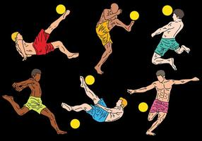 Free Beach Soccer Icons Vektor