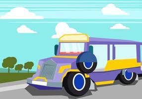 Jeepney in der Sommerzeit vektor