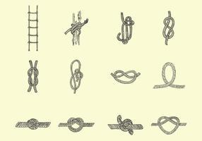 Verschiedene Formen des Seils vektor