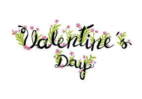 Blumen-Valentinstag-Beschriftung