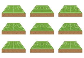 Gratis fotbollsplan ikoner vektor