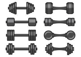 Set von Dumbell Icons vektor