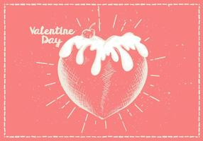 Free Hand Drawn Valentines Vektor Hintergrund