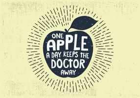 Fria Hand Drawn Apple Frukt Bakgrund vektor