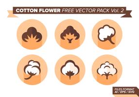 Bomull Blomma Gratis Vector Pack Vol. 2
