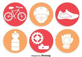 Cykelelement ikoner vektor