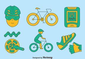 Handritad cykelelement vektor