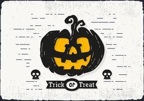 Trick eller fest Halloween pumpa vektor illustration