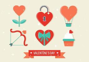Vektor Alla hjärtans dagelement