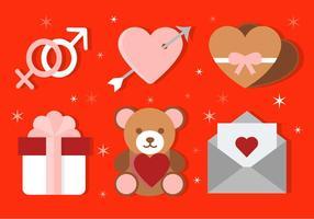 Vektor valentins dag ikoner