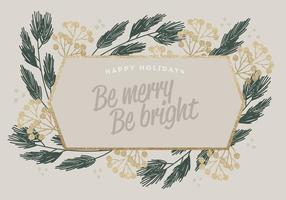 Guld Glitter Vector Vinter Kort