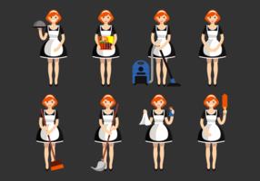 Französisch Maid Vektoren