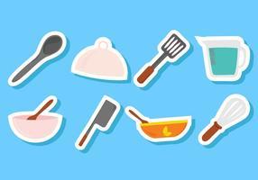 Freie Küche Utensilien Icons Vector