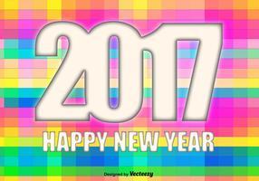 Vector 2017 Glückliches nahes Jahr