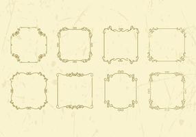 Freier dekorativer Weinlese-Rahmen-Vektor vektor